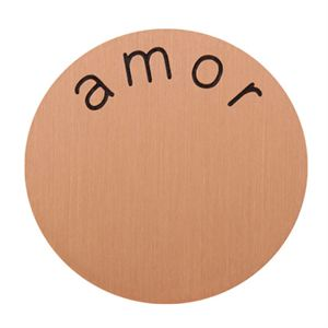 Picture of 'Amor' Medium Rose Gold Coin